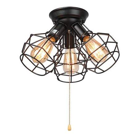 Lnc Wire Cage Ceiling Lights 3light Pull String Flush