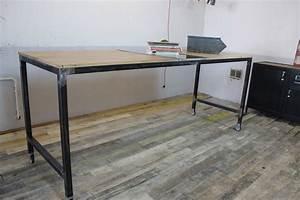 Table Mange Debout Style Industriel : mange debout sur roulette loft industeel ~ Melissatoandfro.com Idées de Décoration