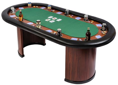 Classic 10 Person Poker Table With Arc Legs  Green (sb10