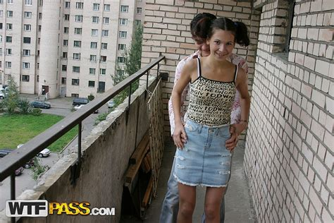 Teen Chick In Roller Skates Lets Neighbor Assfuck Her On