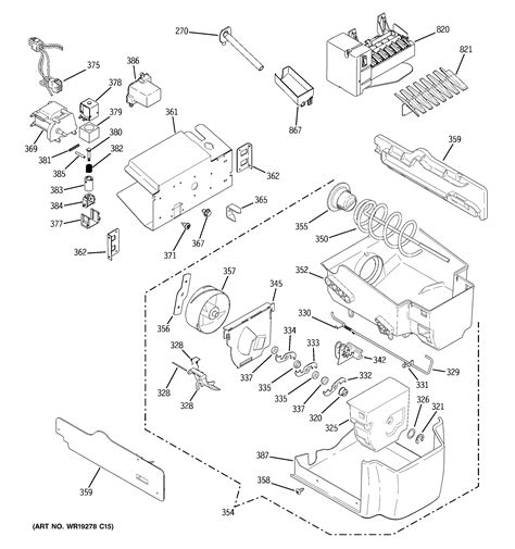 ge refrigerator ice maker parts diagram general wiring diagram