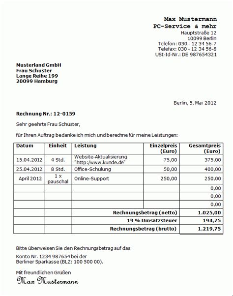 Kostenloser Herunterladen Hotel Rechnung Format In Word Daucoberec