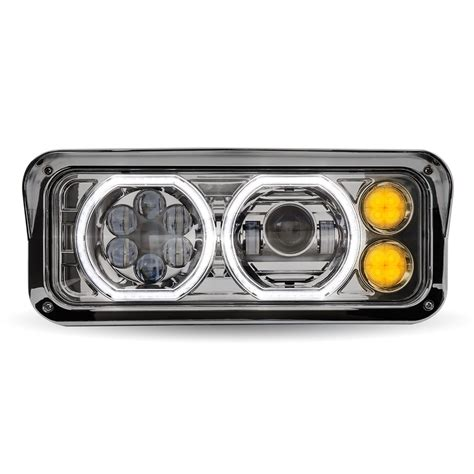 chrome universal led projector headlight assembly driver