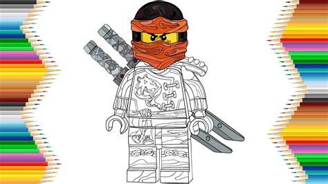 lego ninjago kai skybound drawing coloring  kids