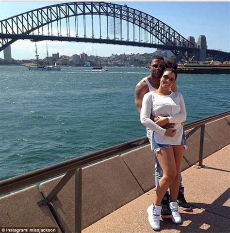 lupe fiasco bikini nelly cuddles girlfriend shantel jackson as they visit