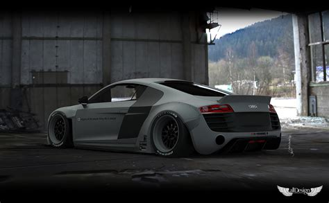 Audi R8 Wide Kit by Wide Kit Liberty Walk Audi R8 Lb Works Alldesign