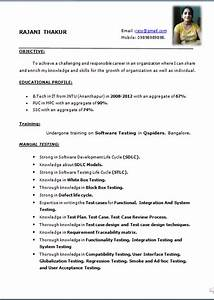 simple resume formats