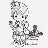Cute Cartoon Coloring Drawing Precious Moments Colour Cartoons Pages Flower Colours Getdrawings sketch template