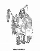 Coloring Native Wolf Clipart American Pages Chief Indian Mandan Adult Americans Lore Clip Wolves Drawing Firstpeople Visit sketch template
