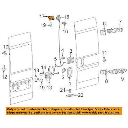 Ram Chrysler Oem Promaster Rear Door Lock