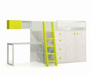 Lit Mezzanine Ado : lit mezzanine avec tiroirs bureau et armoire meuble ros meubles ros ~ Teatrodelosmanantiales.com Idées de Décoration