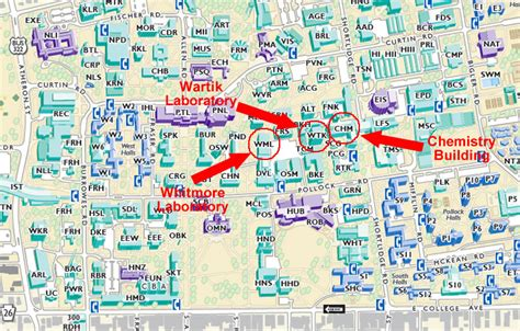 map and directions penn state department of