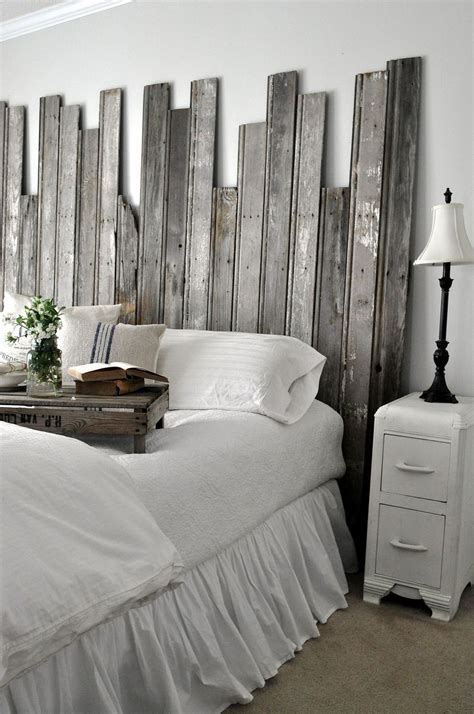 hometalk reclaimed wooden headboard