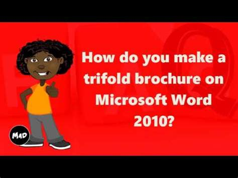 how to make a trifold pamphlet in word how do you make a trifold brochure on microsoft word 2010