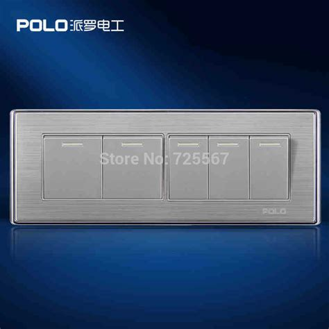 wholesale polo luxury wall switch panel light switch 5