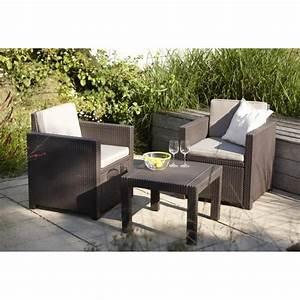 Salon Jardin Rotin : victoria salon de jardin 2 places aspect rotin achat ~ Premium-room.com Idées de Décoration