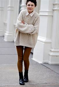 Oversized sweaters: elegant look - mybestfashions.com