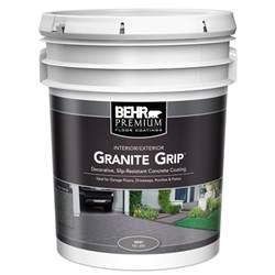 behr deck cleaner 64 behr 5 gal gray granite grip interior exterior concrete