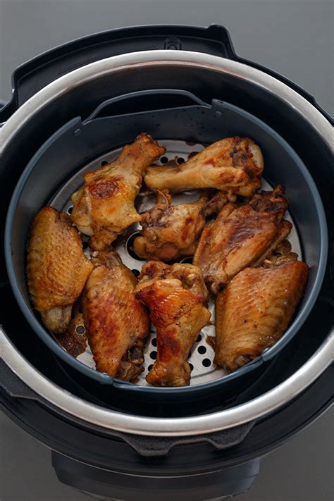 fryer air instant pot lid chicken wings pressure cooker cooking teriyaki cook attachment today basket
