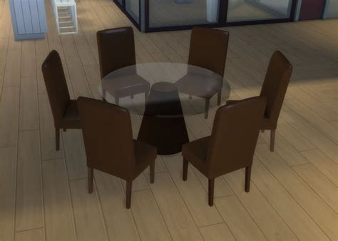 mod  sims modern  seater   seater  dining