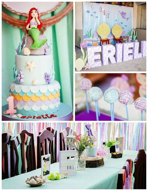 birthday party ideas for popsugar mermaid themed birthday party via kara 39 s party ideas