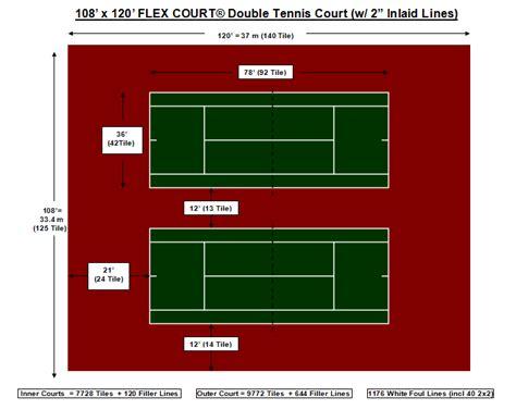 3 feet high (.91 meters). Court Layouts Tennis - Flex Court Canada