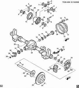 Chevrolet Silverado Axle Asm  Rear 8 625 Ring Gear