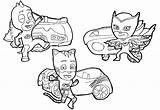 Coloring Boy Catboy sketch template