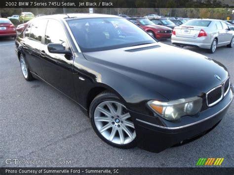 Jet Black  2002 Bmw 7 Series 745li Sedan  Black Interior