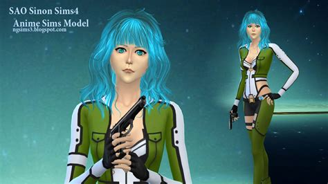 Sims 4 Ccs The Best Anime Sims Model By Ng Sims