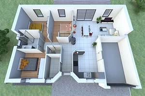 une maison de plain pied avec 3 chambres vous fait rever With plan de construction d une maison