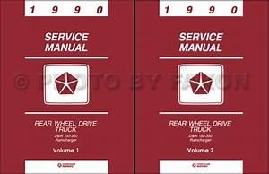 1990 Dodge Pickup Truck Shop Manual D150 D250 D350 W150