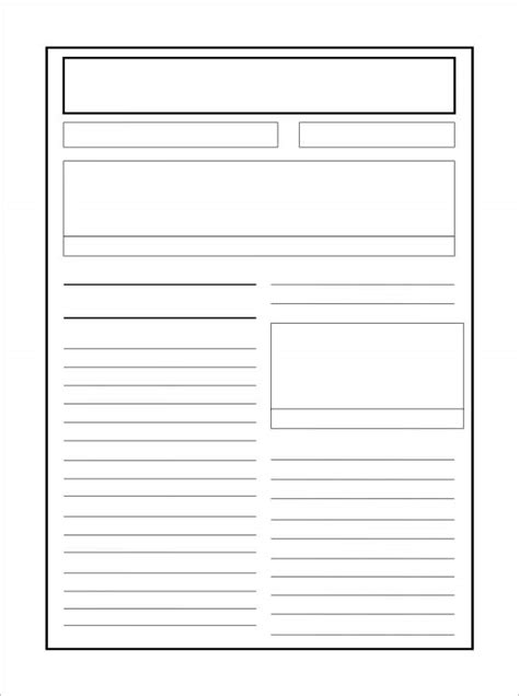 newspaper report templates word  apple pages