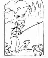 Coloring Boy Boys Fishing Pages Sheets Printable Activity Activities Colouring Young Bucket Dog Doing Find Popular Coloringhome Ages Bluebonkers Books sketch template