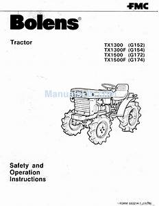 Bolens Tx1300 G152 Safety And Operating Instructions