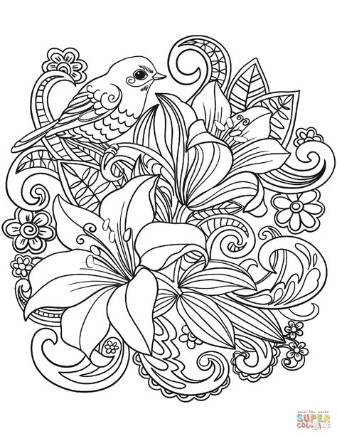 skylark  flowers coloring page  printable coloring pages