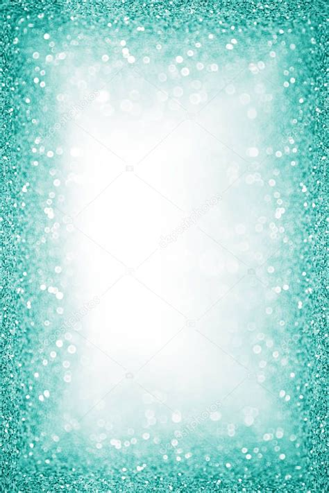teal turquoise glitter border frame background poster