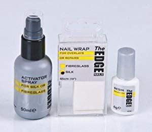 edge nail silk wrap trial kit amazoncouk beauty
