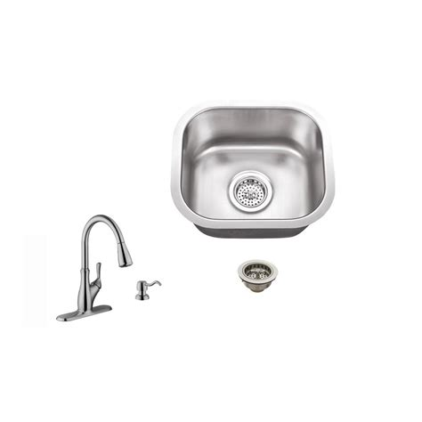 ipt sink company undermount 15 in 18 gauge stainless