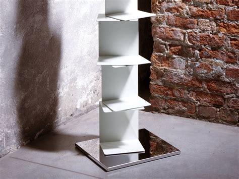 mensola in acciaio libreria motusmentis ghost st con mensole in acciaio