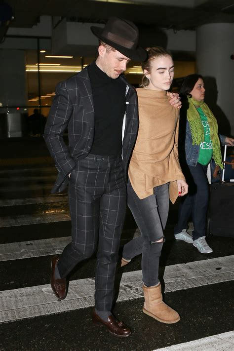 maddie hasson arrives  lax airport  los angeles