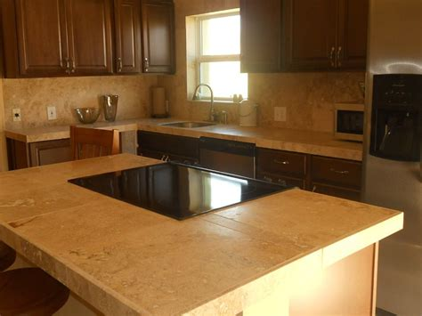 tile kitchen counter travertine countertops design ideas pros cons and cost 2756