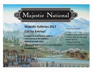 Call for Entries: Majestic National 10th Annual Juried ...