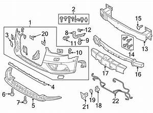 Audi A3 Bumper Cover Reinforcement Bracket  Convertible  W