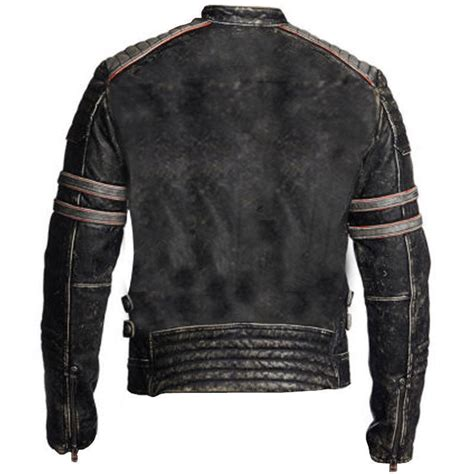 retro motorcycle jacket men 39 s vintage cafe racer black distressed retro motorcycle
