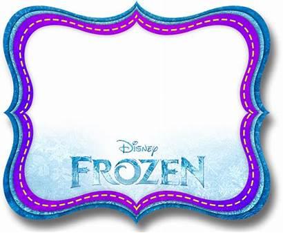 Frozen Printable Labels Frame Disney Clipart Invitations