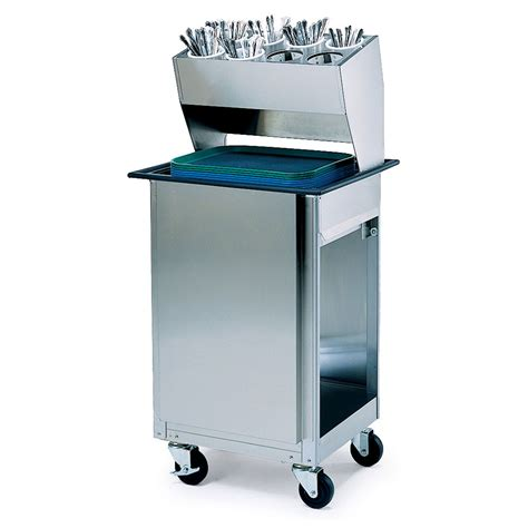 stainless steel silverware caddy lakeside 986 mobile tray dispenser cabinet w flatware rack