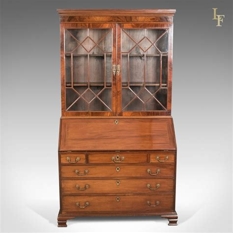antique desk with bookcase antique bureau bookcase late georgian mahogany