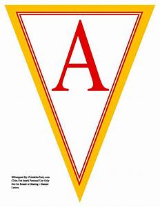 yellow red triangle pennant banner printable alphabet With pennant banner with letters
