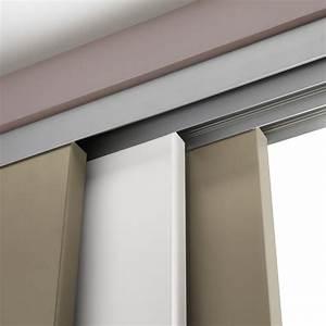 Rail coulissant et habillage slide pour 3 cloisons artens for Porte de garage coulissante et porte intérieure 3 panneaux
